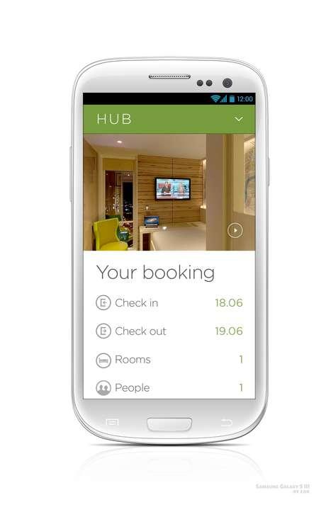 <p>Da reserva à climatização do quarto, tudo poderá ser controlado pelo smartphone do hóspede</p>