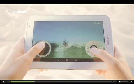 <p>Drone pode ser controlado pelo tablet ou smartphone</p>