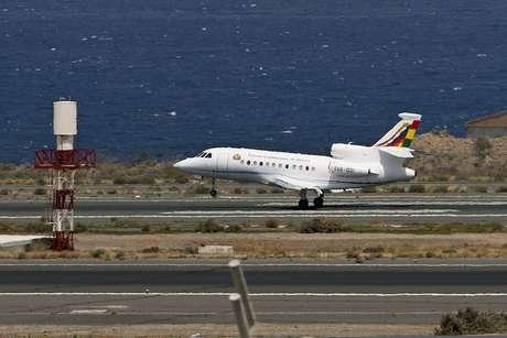 <p>Avião do presidente boliviano, Evo Morales, pousa em GrãCanária</p>