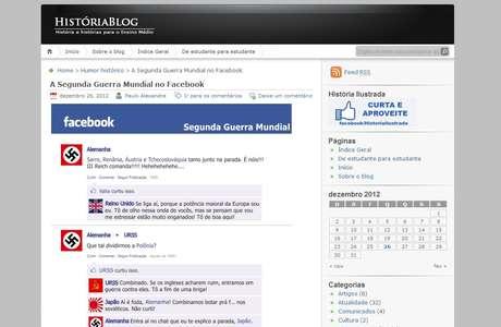Paulo Alexandre Filho criou perfis no Facebook para ensinar sobre a 2ª Guerra