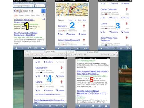 Pesquisa no iPhone tem quatro telas de links de produtos e parceiros Google antes dos resultados orgânicos