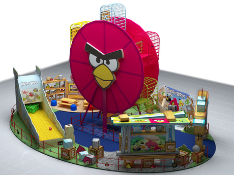 Modelo do que será o playground do Angry Birds no Norte Shopping, no Rio