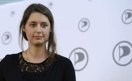 <p>Katharina Nocun, diretora geral do Partido Pirata alemão</p>
