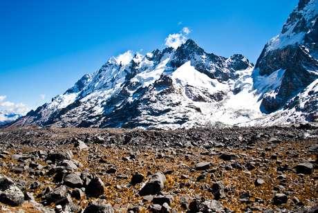 <p>A trilhaSalkantay tem vista garantida para picos nevados</p>