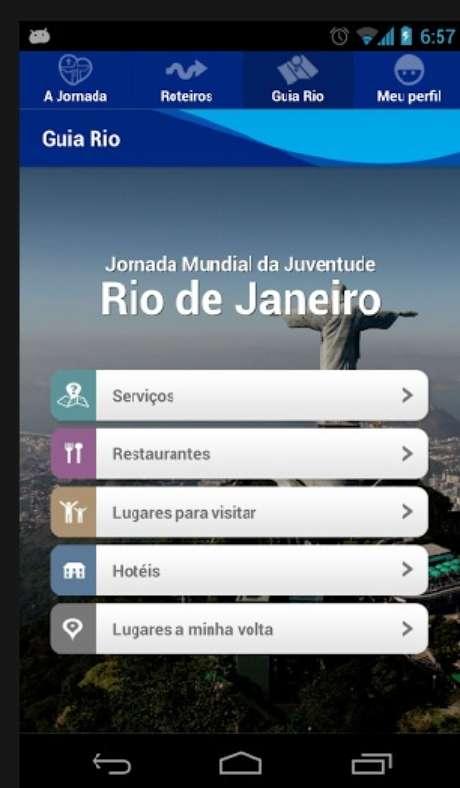 Jornada Mundial da Juventude lançou um aplicativo com informações sobre o evento e a cidade do Rio