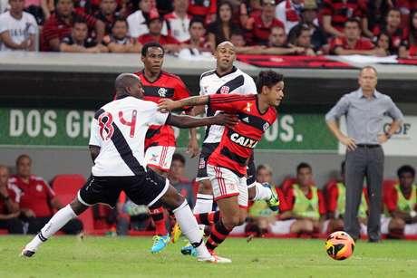 <p>Vasco jogou contra o Flamengo em Brasília recentemente</p>
