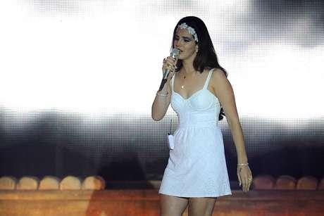 <p>Lana Del Rey durante show na Itália, em 2013</p>