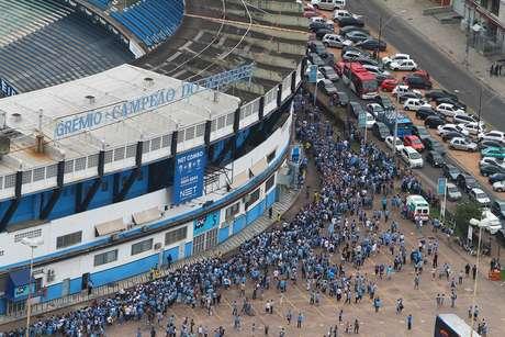 """<p>Mensagem será transportada para a Arena do Grêmio, de forma a manter """"alma"""" em novo estádio</p>"""