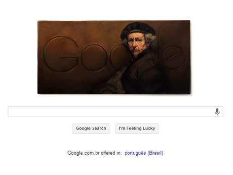 Doodle de homenagem a Rembrandt van Rijn imita estilo barroco que consagrou pintor holandês
