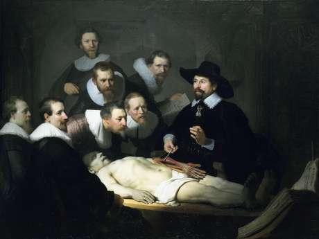 Quadro <i>Lição de Anatomia do Dr. Nicolaes Tulp</i>, de 1632, é um dos mais famosos de Rembrandt