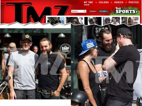 Cory Monteith ao lado de amigos