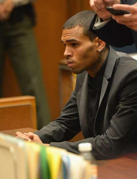 <p>Rapper na audiência que revogou temporariamente sua liberdade condicional, no último dia 15 de julho</p>