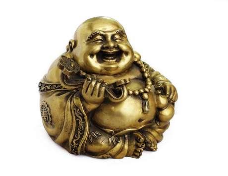 <p>O Buda dourado simboliza riqueza e prosperidade</p>