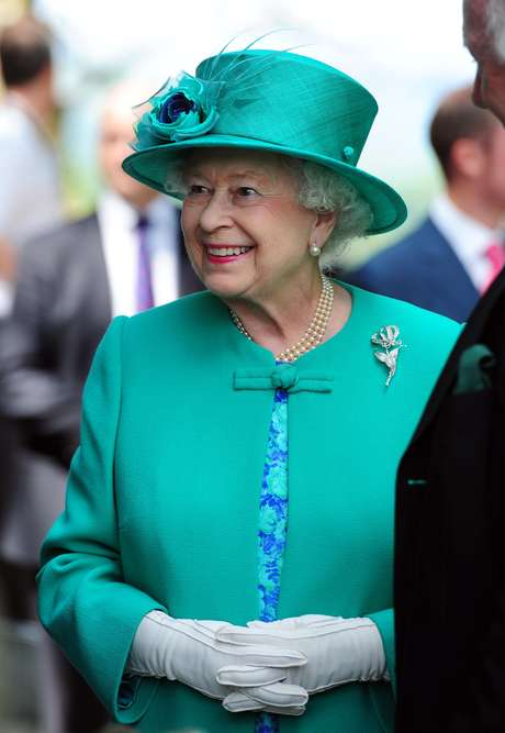 Rainha Elizabeth II em visita a Cúmbria, norte da Inglaterra