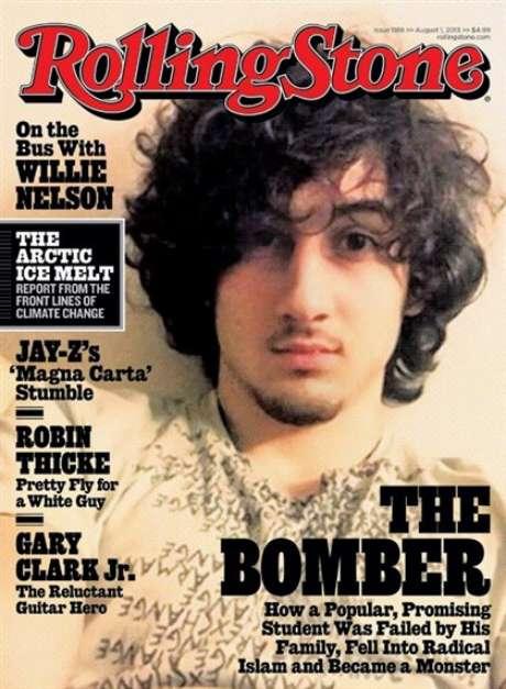 Capa da última edição da revista Rolling Stones traz o acusado de terrorismo