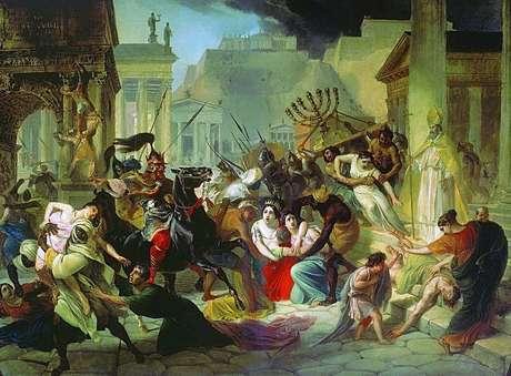 <p>O rei vândalo Genserico submete Roma ao saque (455)</p>