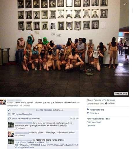 <p>Foto de manifestantes nus no interior da Câmara causou polêmica após ocupação</p>