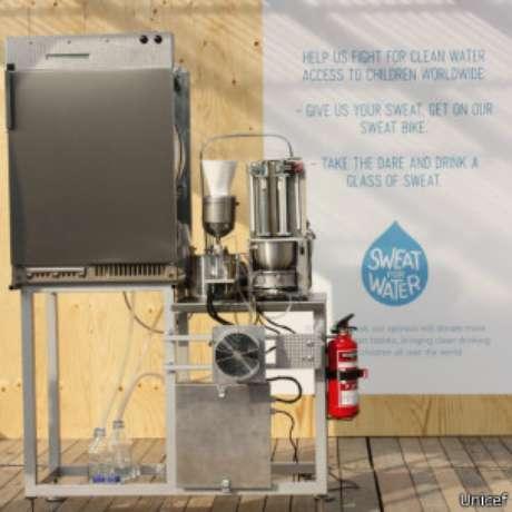 Na máquina, uma membrana separa a água de outros resíduos do suor