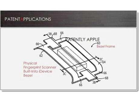 Patente registrada pela Apple mostra sensor de leitura de impressão digital