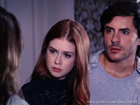 Leila (Fernanda Machado) induz Nicole (Marina Ruy Barbosa) a deixar sua herança para Thales (Ricardo Tozzi)