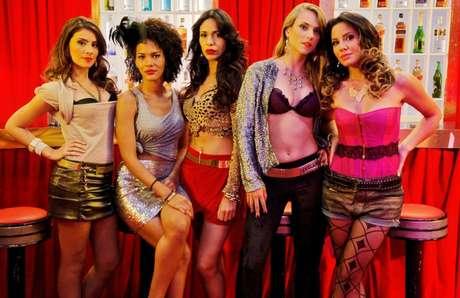 Juliana Knust, Pollyana Rocha, Natália Vidal, Patrícia Elizardo e Jéssica Barbosa, série da Multishow conta sobre vida de prostitutas