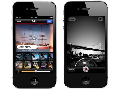 Aplicativo oferece ferramentas para gravar usando filtros, e para inserir legendas e trilha sonora
