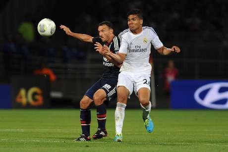 <p>Casemiro entrou no lugar de Ilarramendi e marcou o gol do empate do Real</p>