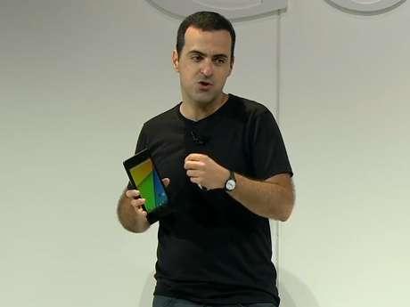 <p>Hoje vice-presidente de Produtos do Android do Google, Hugo Barraapresentou o novo Nexus 7</p>