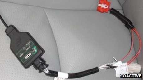 Um cabo foi utilizado para conectar o computador a unidade de controle eletrônico do carro