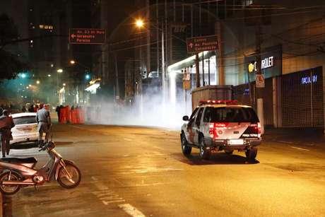 <p>Protesto acabou sendo dispersado pela polícia</p>
