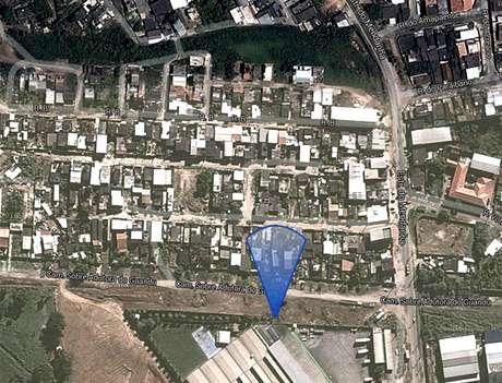 Local onde houve o rompimento da adutora em Campo Grande