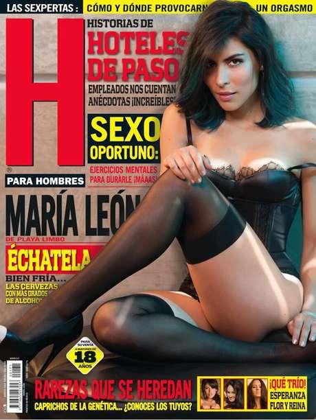 <p>María León aparece con poca ropa en la edición de agosto de la revista H.</p>