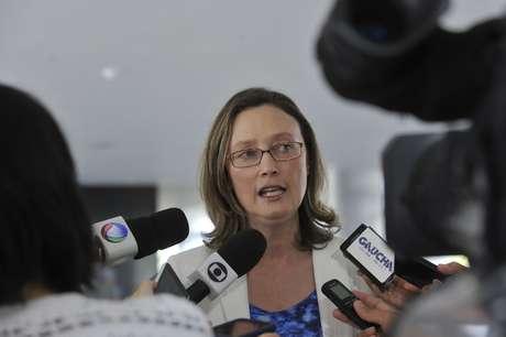 <p>Maria do Rosário falou hoje à imprensa</p>