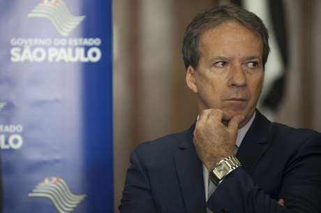 <p>O secretário-chefe da Casa Civil do Estado de São Paulo, Edson Aparecido, concedeu entrevista coletiva nesta sexta-feira</p>