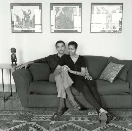 Michelle e o marido, em foto não datada