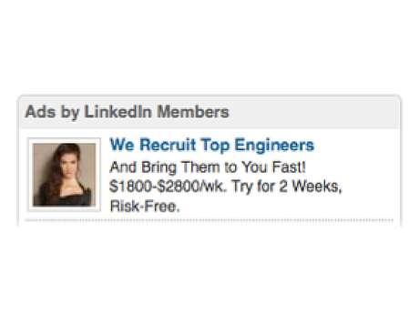 'Recrutamos engenheiros top e os levamos até você rapidamente! $1800-2800/semana. Experimente por 2 semanas, sem riscos', diz anúncio