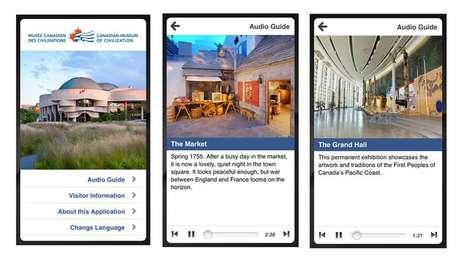 <p><strong>Museu Canadense da Civilização</strong><br />Aplicativo mostra aos usuários detalhes das exposições, com foco, na formação dos nossos ancestrais</p><p>iPhone or Android<br />Gratuito</p>