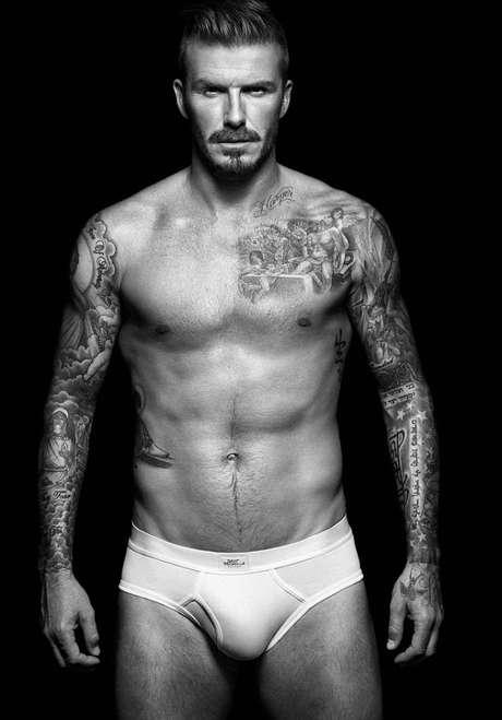 David Beckham, símbolo sexual para as mulheres, já posou para campanha de cueca slip
