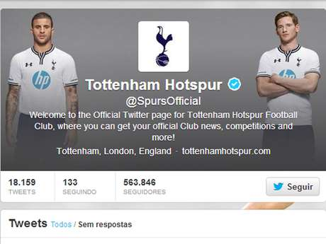 Bale não é mais a capa do Twitter do Tottenham