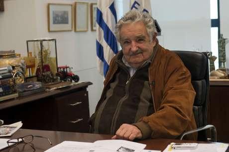 <p>Mujica revelou que se reuniu com membros das Farc recentemente</p>