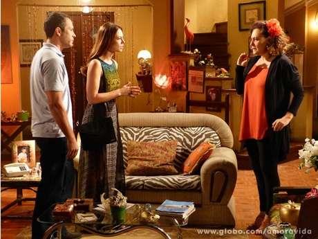 <p>Bruno e Paloma procuram Márcia em busca de ajuda para desvendar mistério</p>