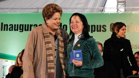 <p>Dilma Rousseff participou da cerimônia de formatura do Pronatec em Osório, no Rio Grande do Sul</p>