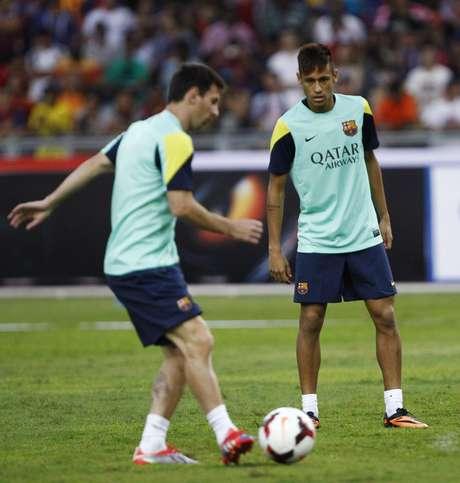 <p>Neymar joga pelo Barcelona neste sábado</p>