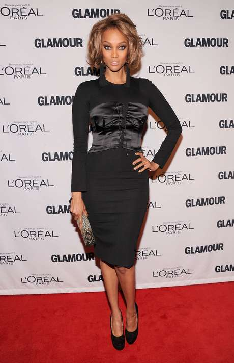 <p>Tyra Banks diz que prefere seu corpo curvil&iacute;neo</p>