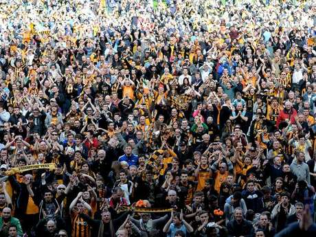 <p>Torcida do Hull City desaprova mudan&ccedil;a de nome</p>