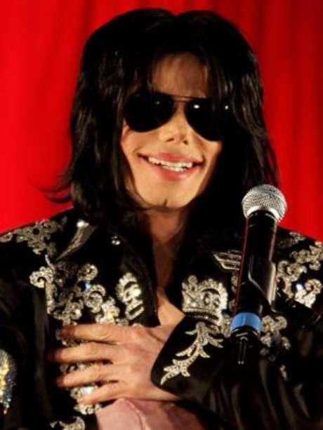 Astro pop, meses antes de sua morte, no dia do anúncio da série de shows que faria em Londres, em 2009