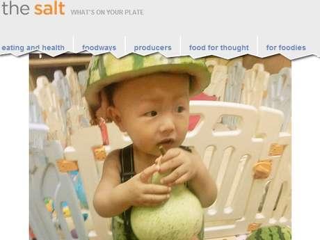 "O modelito inclui roupa e ""chapéus"" da fruta"