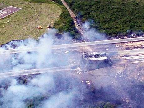<p>Explosão de fogueteemAlcântara deixou 21 mortos</p>