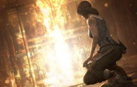 A última versão do jogo Tomb Raider, com Lara Croft com os seios menores