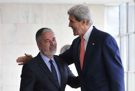 O secretário de Estado americano, John Kerry, faz sua primeira visita ao Brasil no cargo de chefe da diplomacia dos Estados Unidos nesta terça-feira em meio a um mal-estar com o País